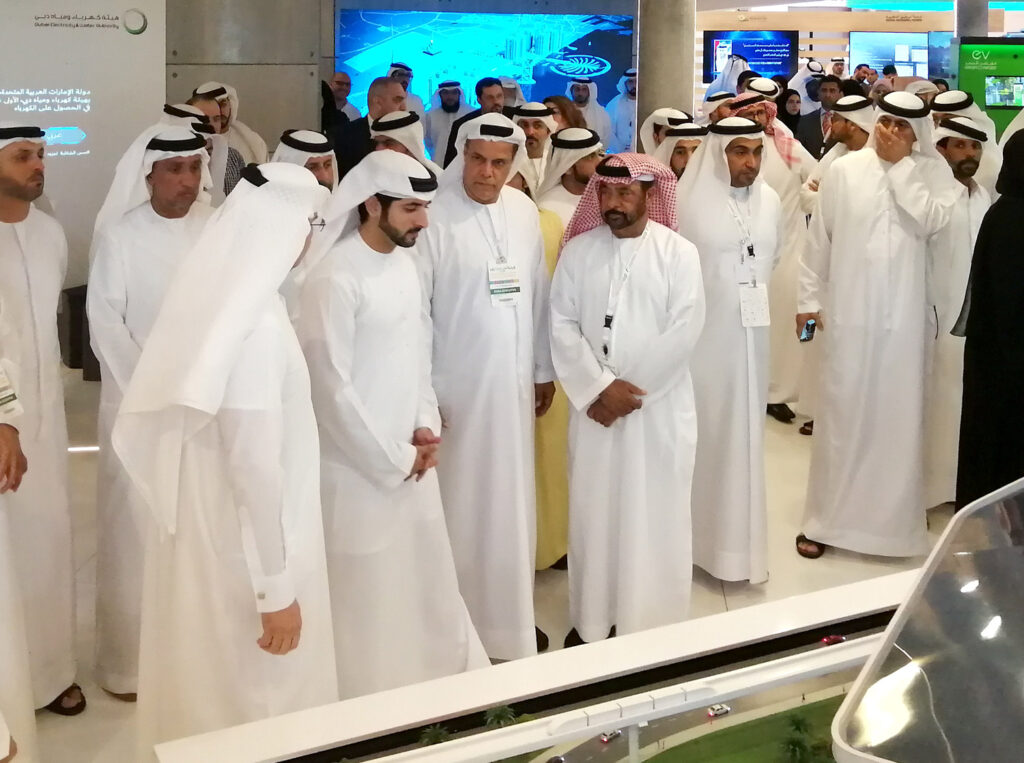 His Highness greeted by His Excellency Saeed AL Tayer